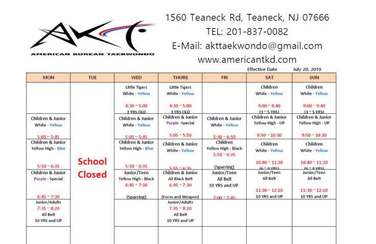 Schedules11